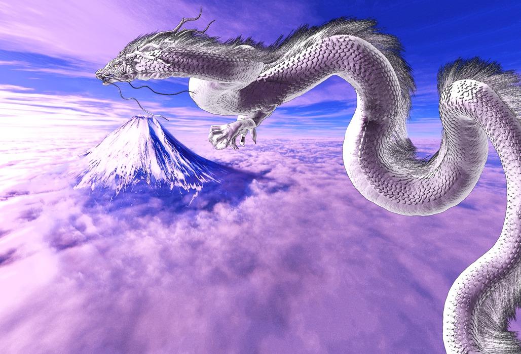 龍の絵 富士と龍2