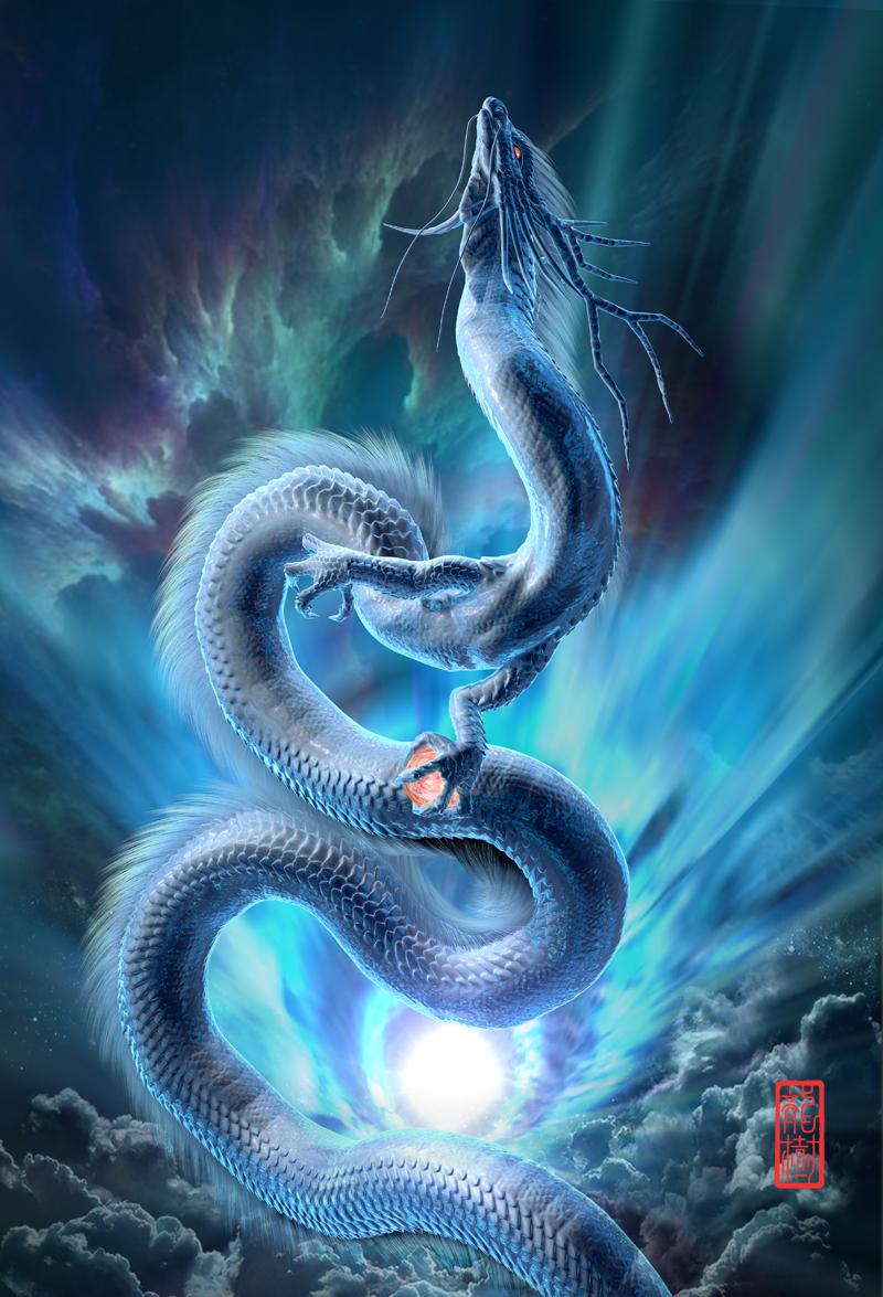 龍の絵「青龍」
